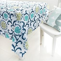 ColorBird Country Style Washable Tablecloth Flower Garden Pr