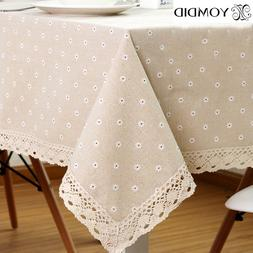 Daisy Flower Pattern Tablecloth Hot Sale <font><b>Linen</b><