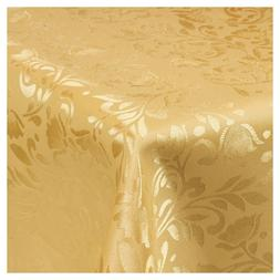 Damask Gold Jacquard Tablecloths Rectangle Oblong Table Clot