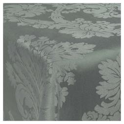 Damask Grey Jacquard Tablecloths Rectangle Oblong Table Clot