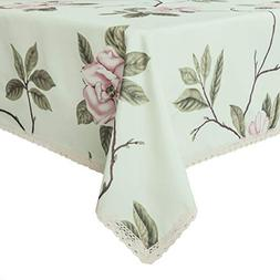 decorative floral print polyester rectangle