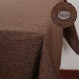 Deconovo Linen Look Table Cover Spill-proof Square Tableclot