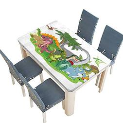 PINAFORE Polyester Tablecloth Table Cover Group Dinosaur Fri