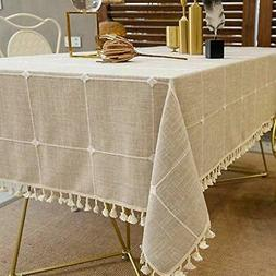 Deep Dream Tablecloths, Embroidered Checkered Table Cloth Co