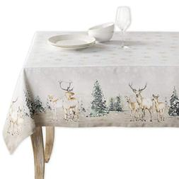 Maison d' Hermine Deer in The Woods 100% Cotton Tablecloth 6