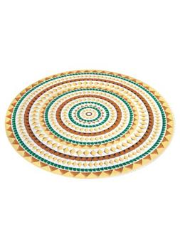"Carol Wright Gifts Vinyl Tablecloths - 48"" Round, Mosaic"