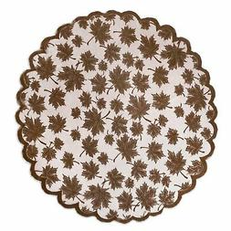 DII Fall/ Thanksgiving Maple Leaf Lace Table Topper for Part