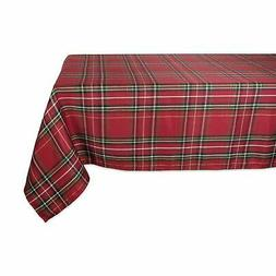 DII Holiday Metallic Plaid Tablecloth