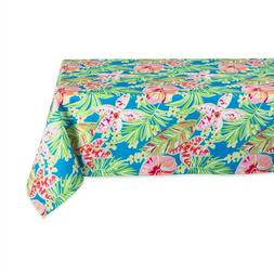 """Design Imports DII Summer Floral Outdoor Tablecloth Size 60"""""""