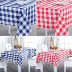 Kitchen Checked Plaid Dining Table Cloth Gingham Cover Recta