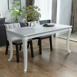 "vidaXL Dining Table 45.7"" High Gloss White Dinner Table Home"