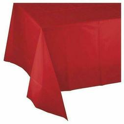 "Mountclear 12-Pack Disposable Plastic Tablecloths 54"" x 108"""
