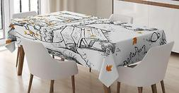 Doodle Tablecloth Ambesonne 3 Sizes Rectangular Table Cover