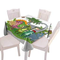 Square Table Cloth Foot Table in Washable Polyester Suitable