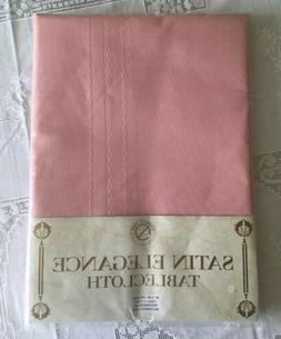 "Dusty Rose Pink Tablecloth 60x84"" Oblong Rectangle Bardwel"
