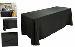 E-TEX Oblong Tablecloth - 90 x 132 Inch Rectangle Table Clot