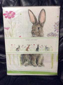 Wisteria Home Easter Bunny Bunnies Floral Spring Tablecloth