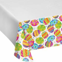 Easter Egg Toss Tablecover Tablecloth Plastic 54 x 102 Borde