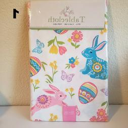 Easter Spring Multi-color Vinyl Table Cloth