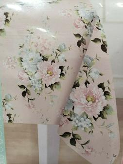 "Easter Spring Shabby Chic Floral Fabric Tablecloth 60"" x 84"""