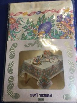 Bardwil Linens Easter Tree Oblong Tablecloth 52 X 70 Bunny F