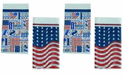 "Set of 4 Economy Plastic Tablecloth Bundle Patriotic 54""x108"
