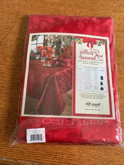 "Elegance Holiday Cloth By Benson Mills Red Tablecloth 60"" x"