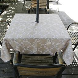 ColorBird Elegant Moroccan Outdoor Tablecloth Waterproof Spi