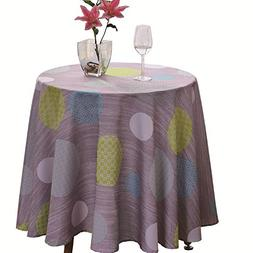 JIATER Elegant Printed Table Cloth Spillproof Polyester Fabr