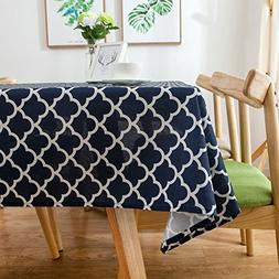 ColorBird Elegant Trellis Tablecloth Waterproof Spillproof P