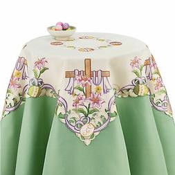 Embroidered Easter Cross Table Topper