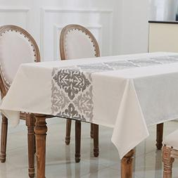 HWY 50 Embroidered Tablecloths For Rectangle Tables , 1 Pcs