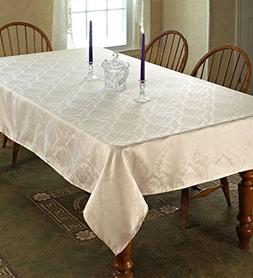 Violet Linen European Damask Design Oblong/Rectangle Tablecl