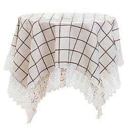 European Style Fabrics Grids Lace Tablecloth, Table Cover 85