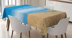 Exotic Beach Tablecloth Ambesonne 3 Sizes Rectangular Table