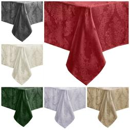 Fabric Damask Tablecloth Kitchen Dining Table Linens Tablecl