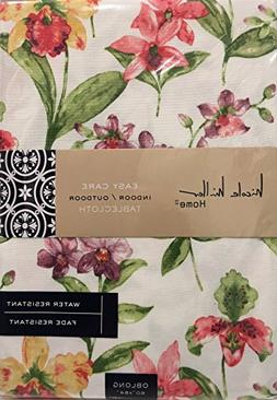 """Nicol Miller Home 60"""" x 84"""" Fabric Floral Tablecloth featuri"""