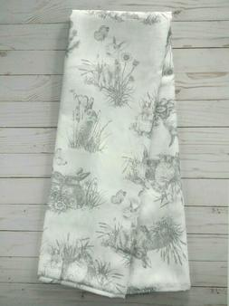 Fabric Tablecloth 60x84 Bunny Toile Spring Easter Flowers Eg