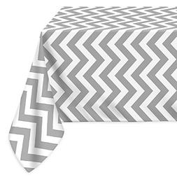LEEVAN Fabric Tablecloth Stylish Waterproof Spill-proof Chev