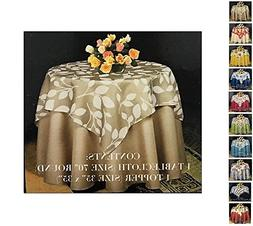 Fashion Fabric Tablecloth Topper Set, 2-Piece, Multi Pattern