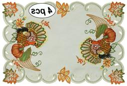 Creative Linens Fall Thanksgiving Turkey Placemats Table Clo
