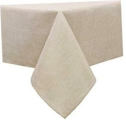 Faux Linen Square Tablecloth - Waterproof Wrinkle and Stain