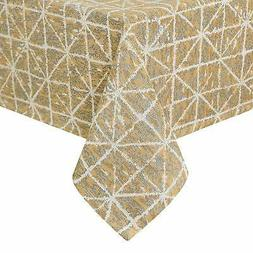 Homedocr Faux Linen Square Tablecloth Wrinkle Resistant & Wa