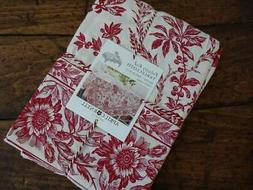 APRIL CORNELL FELICITY RED Ivory FLORAL Cotton French Countr
