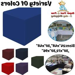 Fitted Tablecloth Table Cloth Cover Rectangle Polyester Blac