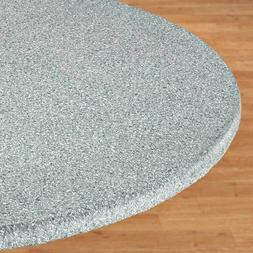 FITTED Vinyl GRANITE Table Cover Fitted Round Oval/Oblong Ba