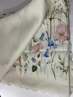 Floral Coloring Square Turkish Tablecloth Non-iron Stain Res