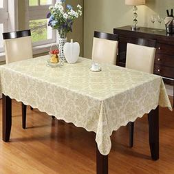 Eforcurtain Floral PVC Water and Oil Resistant Tablecloth So