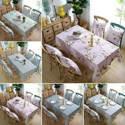 Printed Table Cloth Cover Kitchen Home Dining Table Easy Cle