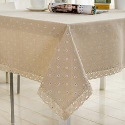 Flower Pattern Tablecloth <font><b>Linen</b></font> Cotton <
